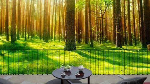 Romantic breakfast - Country - Garden  - by Varsha Liston