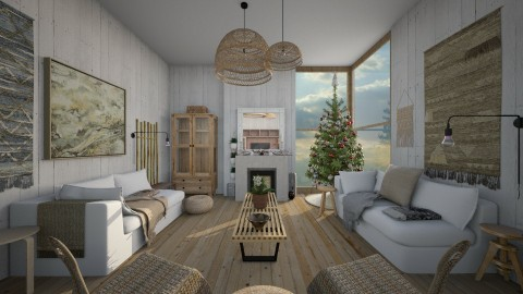 Simple Xmas - Rustic - Living room  - by camilla_saurus