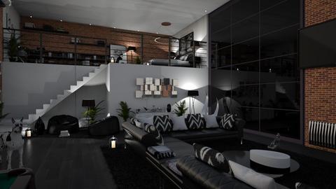 loft living room main - Living room  - by nikola00211