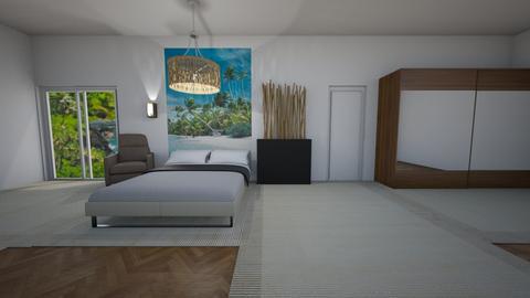 The beach room - Bedroom  - by Hamzah luvs cats