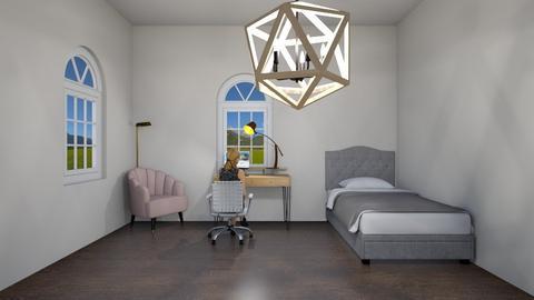 Doing homework - Bedroom  - by llamaperson