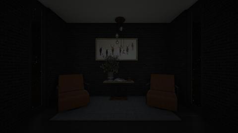 Dark and Simple - Living room  - by Noa Jones