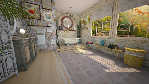 boho bath - Eclectic - Bathroom  - by donella