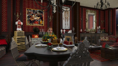 Dinner with Hannibal - Vintage - Dining room  - by evahassing