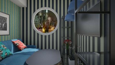 Nakagi Capsule Room 2 srb - Rustic - Living room  - by Evangeline_The_Unicorn