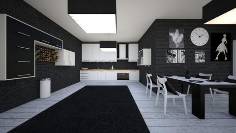 blackandwhitekitchen - Kitchen - by block44