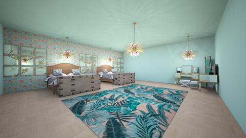 twin teen beach room - Bedroom  - by Surfer girl teen rock23