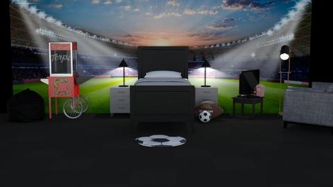 football fan bedroom comp - Bedroom  - by DarcieM88