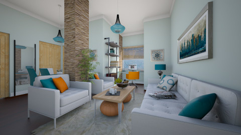For amone01 V - Eclectic - Living room  - by Theadora