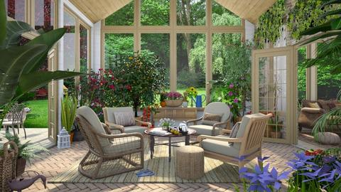 Design 516 Spring Sun Room - Garden  - by Daisy320