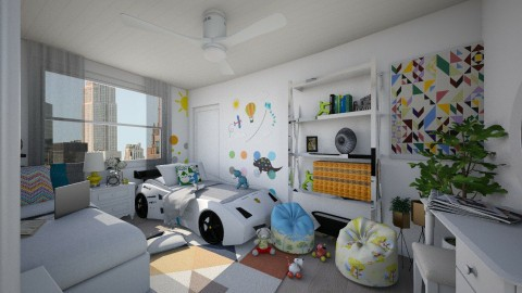 Mother and son - Bedroom - by Paola Perdomo