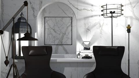 marble floor lamp - by rubbaduk_