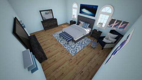 teen boy - Retro - Bedroom  - by Kerissa Montgomery