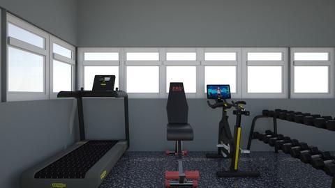 Home gym - Retro - by Unimermaid22