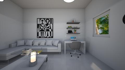 sala blanca detalles colo - Living room  - by clasesytutorias