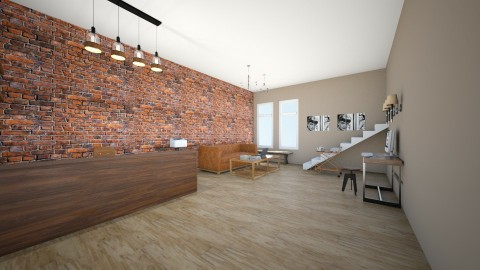 reception area level 1 - Rustic - Office  - by hometime1