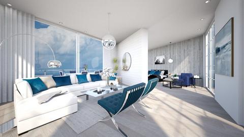 Blue Vibes  - Living room  - by Amrita_johall03