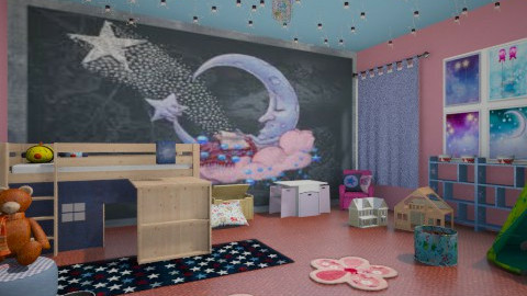 moon dreams - Kids room  - by rasty
