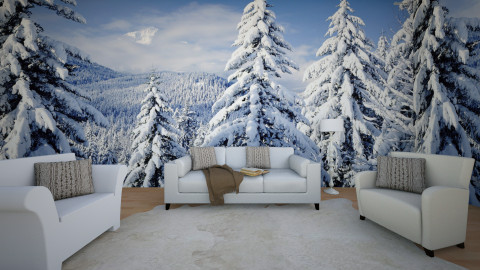 Simple Winter - Living room  - by AmelieDoughty