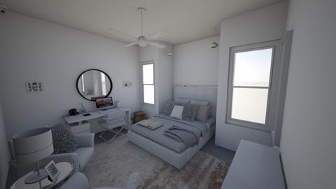 white asthetic - Modern - Bedroom - by s _ i _ j