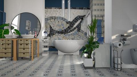 Dolphin__Mosaic - Bathroom  - by ZuzanaDesign