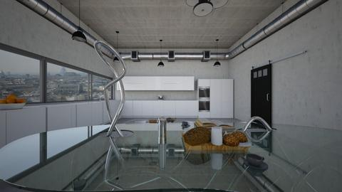 Paris loft kitchen _diner - Modern - Kitchen  - by kitty