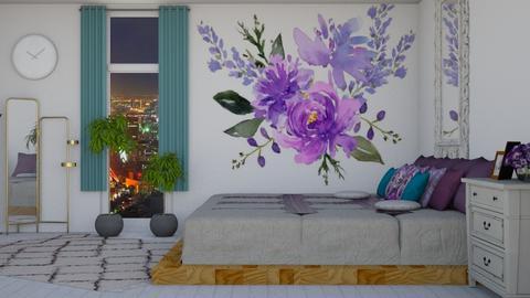 Purple - Feminine - Bedroom  - by Drama Llama