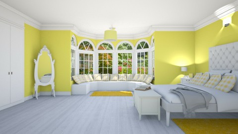 Spring Lemon Mello Yellow - Classic - Bedroom  - by creato