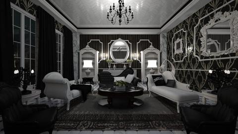 Black White Glossy - Glamour - Living room  - by Pirschjaeger