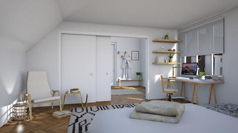 Attic - Minimal - Bedroom  - by Claudia Correia