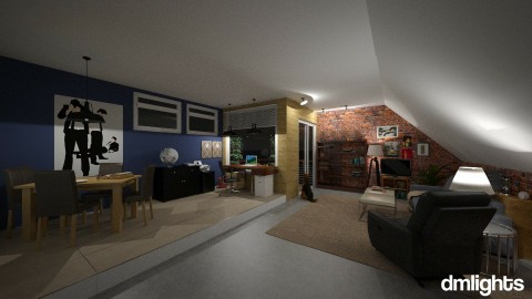 Big_City_BachelorPad - Masculine - Living room - by DMLights-user-1383470