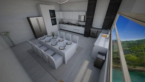 blanca - Modern - Kitchen  - by amiraoudjedi