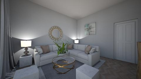 white luxury - Living room  - by Panicha