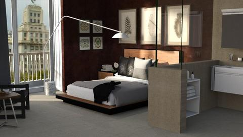 Room With A View - Masculine - Bedroom  - by Claudia Correia