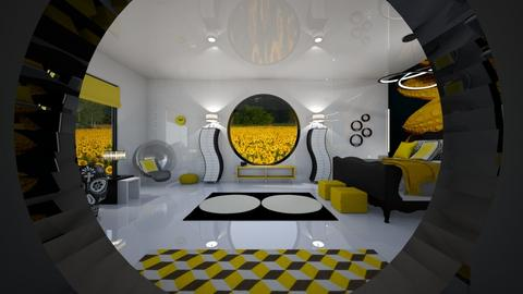 Sunflower Circles RS - Eclectic - Bedroom  - by Amyz625