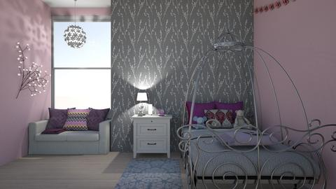 Pink and Purple Princess - Feminine - Kids room  - by Lyshjelm