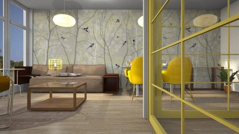 yellow - Living room  - by BortikZemec