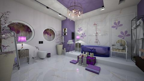 Lavender BathRoom - Modern - Bathroom  - by Nikos Tsokos