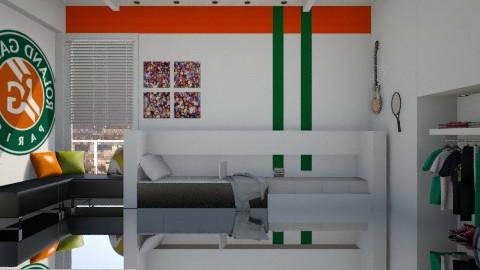 Tennisfan bedroom  - Modern - Bedroom - by facundo