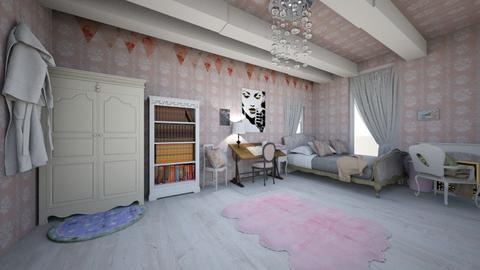 Shabby bedroom - Retro - Bedroom  - by NaomiGraceR