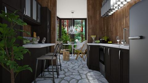 Forest Lunch - Rustic - Kitchen - by millerfam