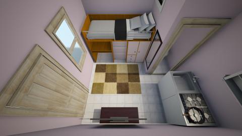 kamar kost 3x3 - Minimal - Living room  - by gono