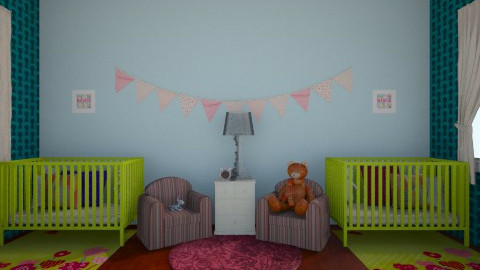 twins - Classic - Kids room  - by Katherine Gilbert