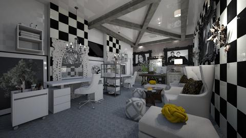 Coiffure_Black_White - Modern - Living room  - by Nikos Tsokos