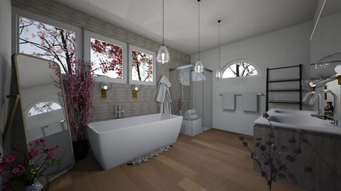 cherry blossom bathroom - Bathroom  - by MeenaC