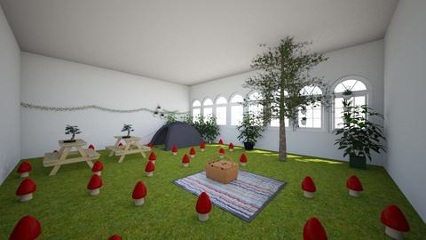 mushroom - Garden  - by ilikemochi