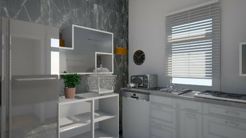 black and silver - Kitchen - by zohaa101