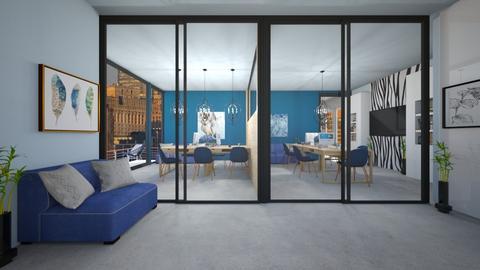 Blue Lawyer Office - Modern - Office  - by BubbleSloth