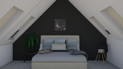 Loft into a teens bedroom - Bedroom  - by DerpyMoggins