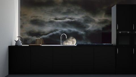 black kitchen - Kitchen  - by Max30